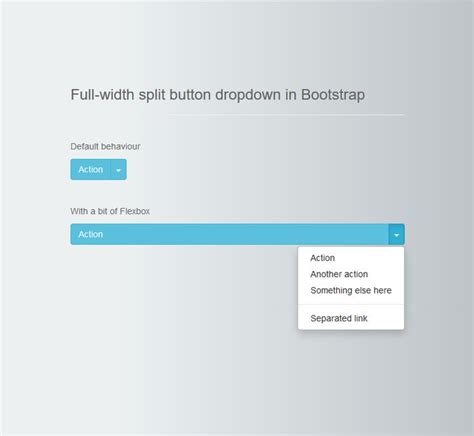 bootstrap pinterest layout css full width split button dropdown in bootstrap bootstrap