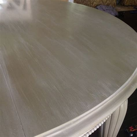 a dining room table given a lovely color wash of linen chalk paint decorative