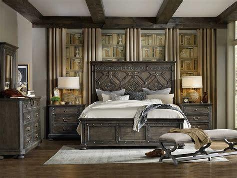 hooker bed hooker furniture vintage west wood panel bed bedroom set