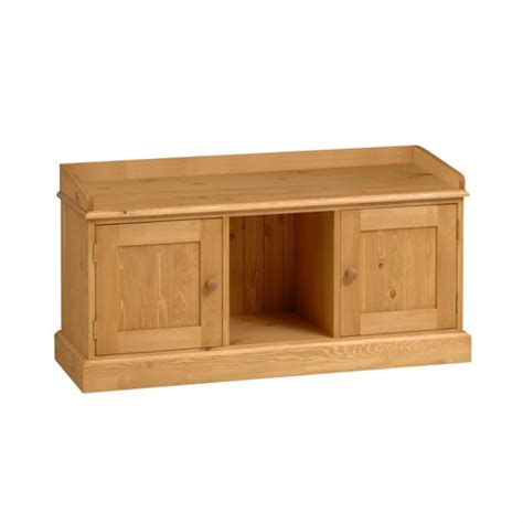 pine storage bench dorchester pine triple storage bench s903 with free