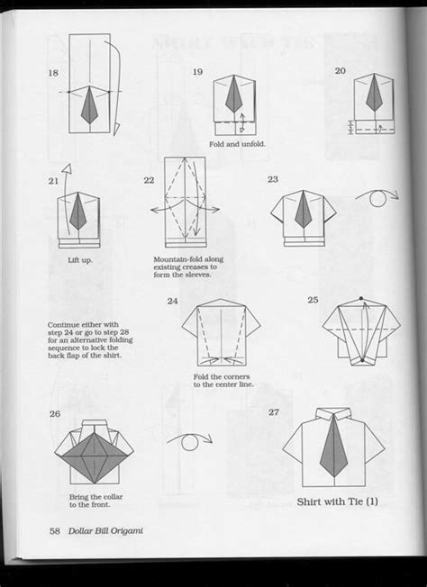 How To Fold Paper Shirt - image gallery origami shirt and tie