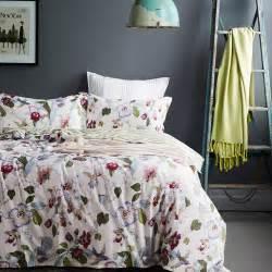 floral bed sets tranquil floral cotton bedding set ebeddingsets