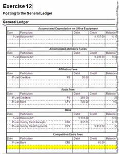 accounting exercises post sales journal to the general ledger