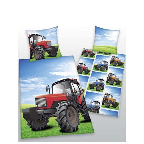 tractor single reversible duvet cover  pillowcase set