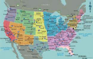 map of the united states and major cities map student guide usa
