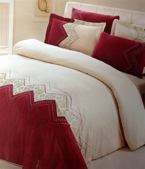 red bed sheets tima red cotton double bed sheets best price in india on