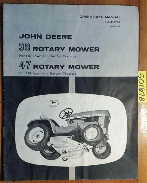 John Deere 39 47 Mower For 110 112 Lawn Amp Garden Tractor