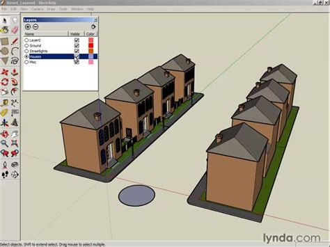 tutorial sketchup layers working with layers from the course google sketchup 6