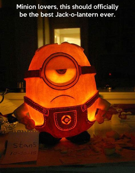 for minion lovers pumpkin carving art know your meme