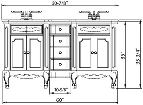 what is the standard of a bathroom vanity height