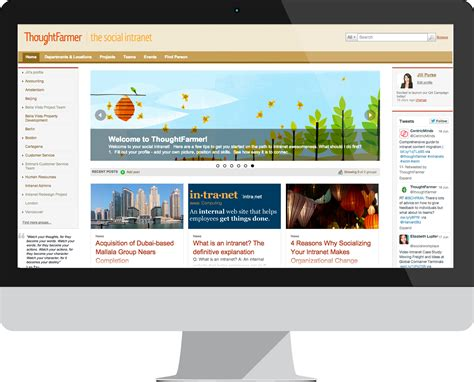 intranet homepages carousel style layouts
