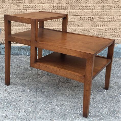 contemporary bedroom side tables tiered side table side russel wright mid century modern tiered birch side table