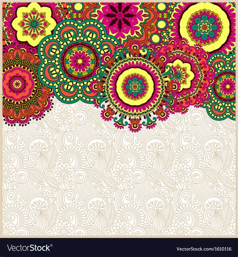 vector image floral background with circle flower design vector image
