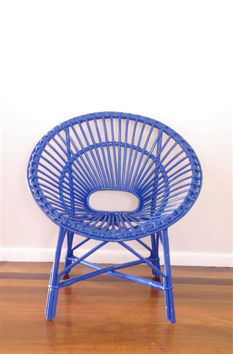 Blue Saucer Chair by Made To Order Upcycled Vintage Saucer Chair Neon Blue 151 00 Via Etsy