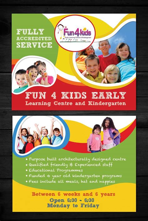 design flyers online australia flyer design for fun 4 kids early learning centre by esolz