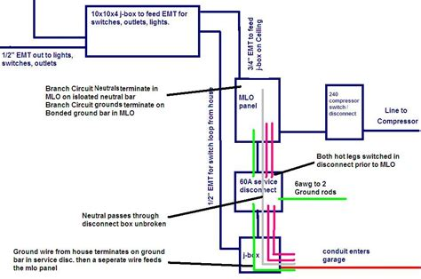 garage to house wiring 3 wire switch diagram detached