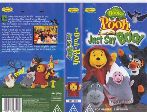 Story Book Say Boo To The Animals the book of pooh just say boo vhs pal a find 7 05 picclick