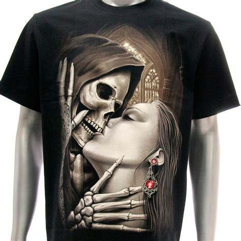 skull kissing tattoo r60 rock eagle t shirt grim reaper dead skull