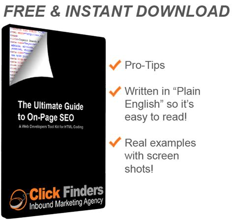 Finders Free Search Engine The Ultimate Guide To On Page Seo Free Ebook