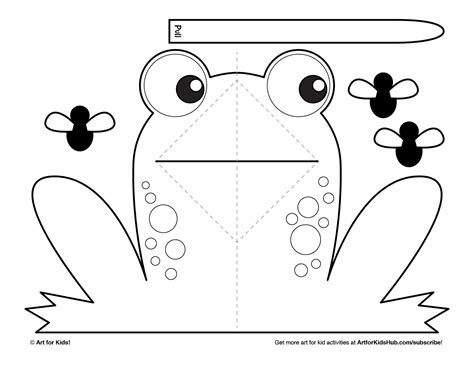 template pop up book easy pop up frog for hub frog frogs