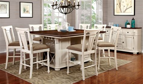 height dining table set buy furniture of america cm3199wc pt set sabrina white