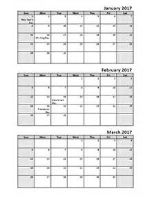 Calendar Update Month View 2017 Calendar Templates 2017 Monthly Yearly