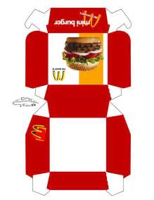 burger box template pdf 1000 images about miniature fast food printables on