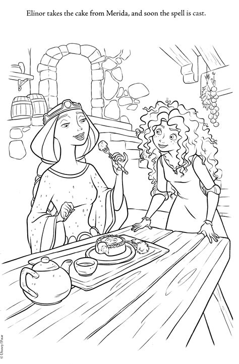 coloring pages disney brave disney coloring pages