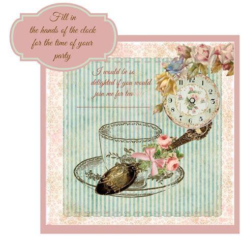 get free printable tea party invitations tea party invitations