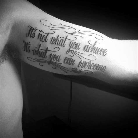 inner bicep quote tattoos for men 100 inner bicep designs for manly ink ideas