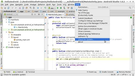 how to update android studio android er update android studio