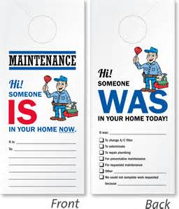 Maintenance Door Hanger Template 5 from 5293 reviews