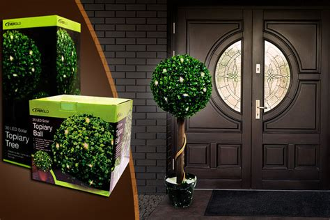 artificial topiary trees with solar lights solar powered topiary or tree