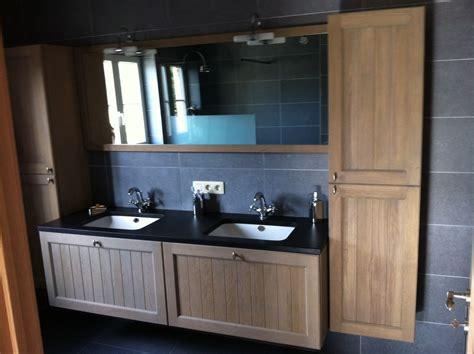 natuursteen badkamermeubel landelijk klassiek badkamermeubel hout natuursteen