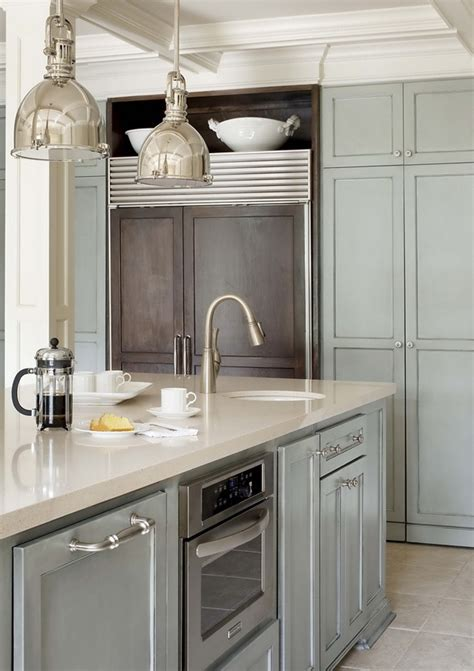 gray blue kitchen cabinets kitchen