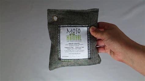 moso natural air purifying bag review youtube