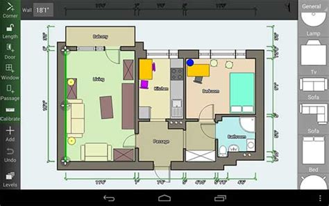 room planner home design android melhor app para fazer planta da casa com celular e tablet