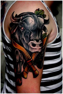 tattoo old school bull 30 dandy bull tattoo designs