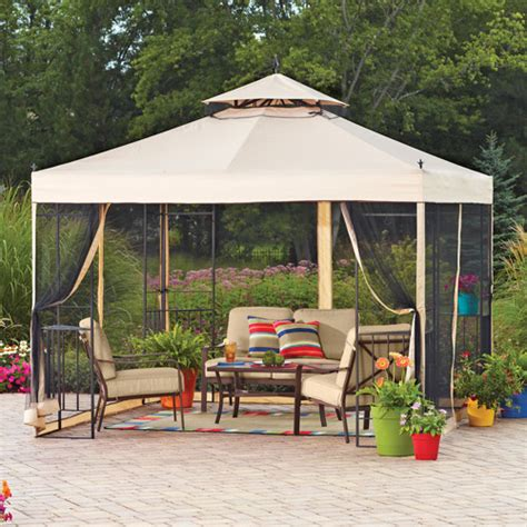 patio gazebo walmart mainstays sun shade gazebo walmart