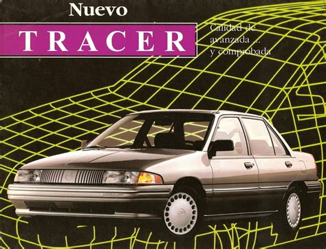 automotive service manuals 1992 mercury tracer user handbook mercury 1956