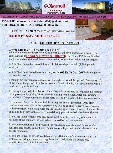 Hotel Offer Letters Marriott Residence Hotel False Offer Review 284842 Complaints Board