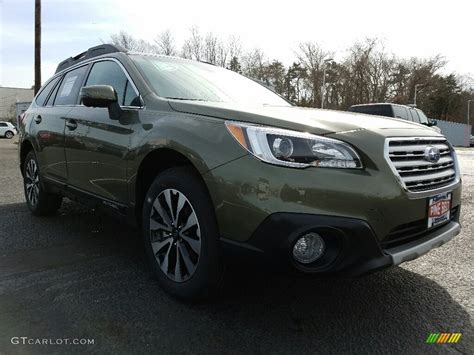 green subaru outback 2017 2017 wilderness green metallic subaru outback 3 6r limited