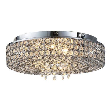 chrome flush mount light ove decors monaco 5 light chrome ceiling flushmount monaco