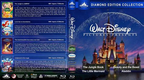 walt disney collection bluray cover cover addict