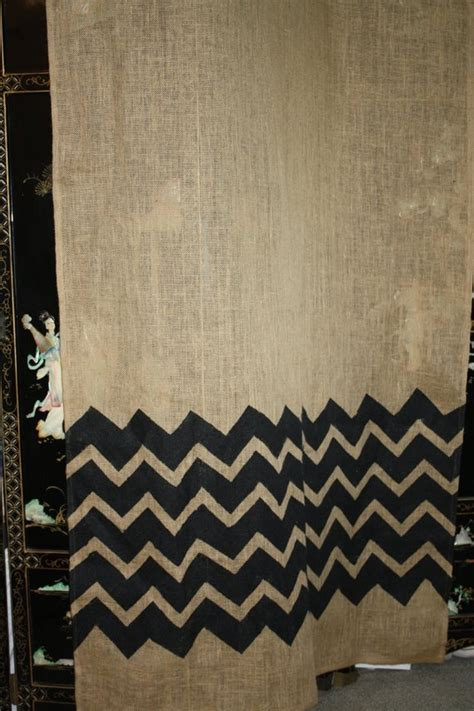 burlap chevron curtains 17 best images about curtains on pinterest window