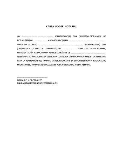 que es una carta poder notarial para pleitos y cobranzas carta poder notarial pdf