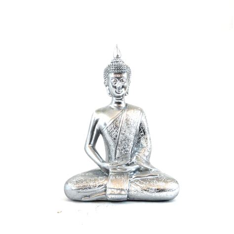 Statue Home Decor Buddha Statue Modern Bohemian Chrome Home Decor Thai By Nashpop