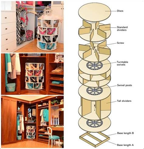 diy lazy susan shoe storage diy home project lazy susan shoe rack find