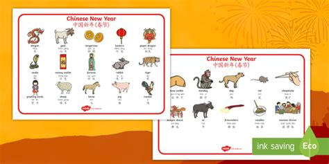 new year topic words new year word mat mandarin pinyin