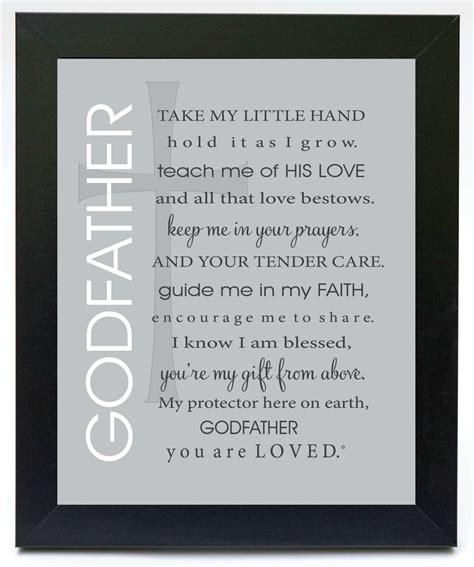 poems for my godfather poem frame